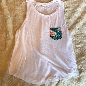 PINK Victoria's Secret Floral Pocket Tank Top